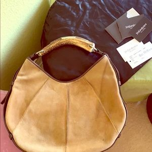 YSL Mombasa suede bag. 100% authentic